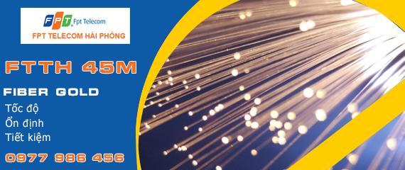Cáp quang FPT Hải Phòng - Gói Fiber Gold 45M