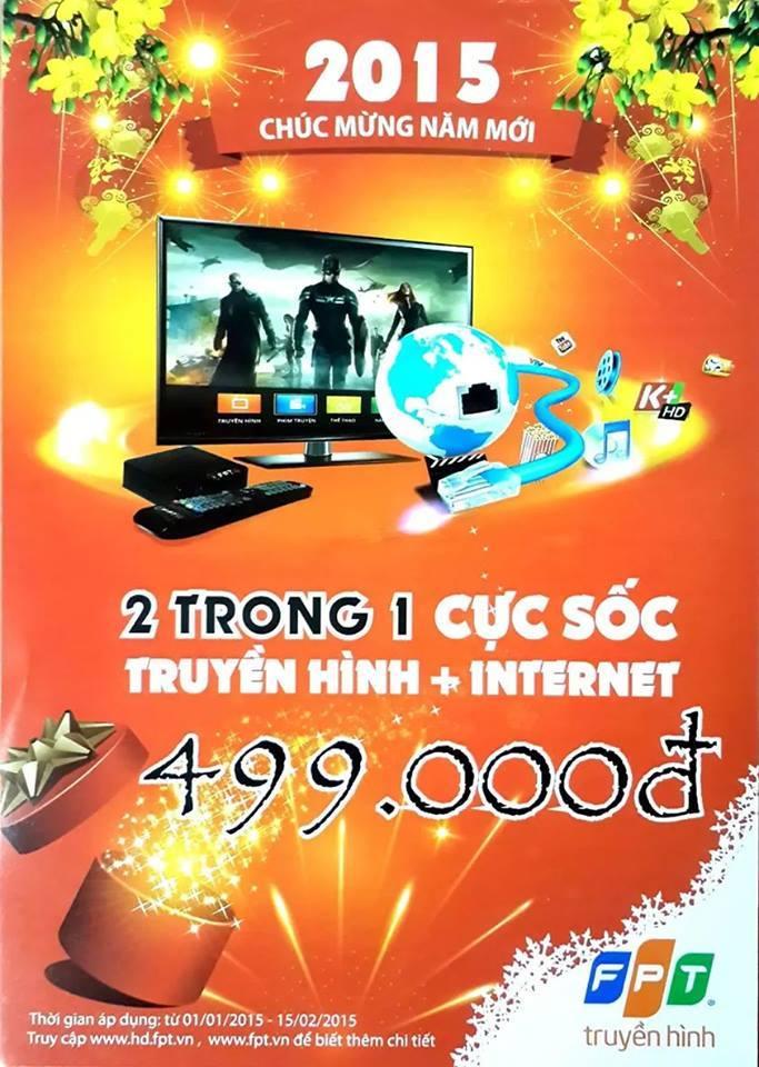 KM Tháng 1-2015: Truyền hình + Internet FPT Hải Phòng