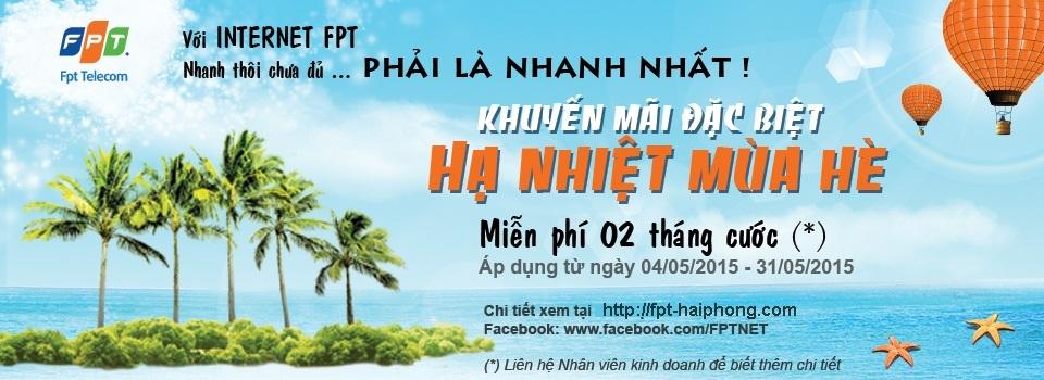 Internet FPT Hải Phòng Hạ Nhiệt Mùa Hè